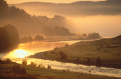 The River Findhorn at Drynachan on a misty autumn morning. Scotland