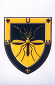 The Arms of Professor Percy Garnham, an authority on Malaria. Royal College of Arms, London. 1997
