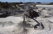Mining phosphates from Guano. Nauru. The Pacific.