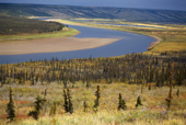 View of the Anderson River as it runs through tundra east of Inuvik. North West Territories. Canada. 1996