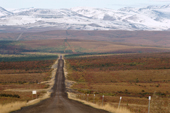 The line of the Dempster Highway heads north all the way to Inuvik. NWT. Canada. 1996