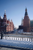 View of Red Square and the Kremlin from Alexandrovskiy Garden. Moscow, Russia. 2005