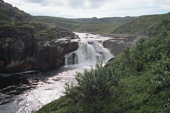 A waterfall on the Eastern Litza River which crosses the tundra of the Kola Peninsula. NW Russia. 2005
