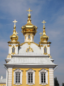 East Chapel of Peterhof Palace with its five domes. Near St. Petersburg, Russia. 2010