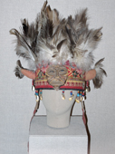 A traditional shaman's headress from Tuva in Southern Siberia, Russia. 2010